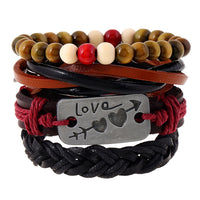 Anchor Leather Bracelets