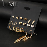 9 pcs Stud Earrings