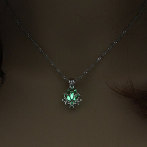 Luminous Glow In The Dark lotus pendant