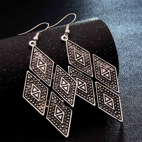 Ethnic Carved Earrings