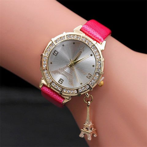 Eiffel Tower Rhinestone watch