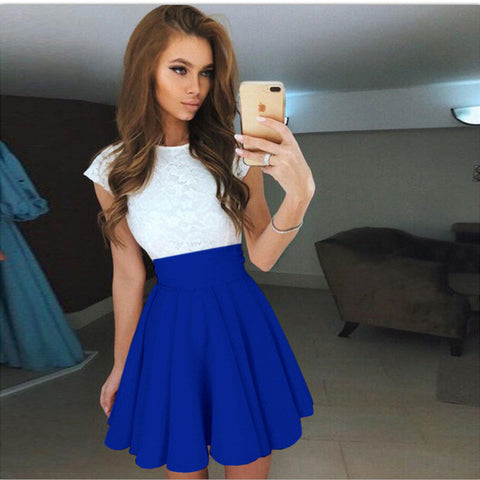 Cute Belt Short Sleeve Dresses