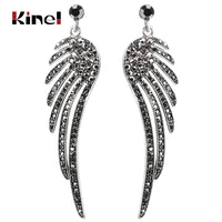 Angel Wings Feather Crystal Earrings