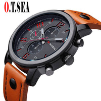 Leather Military Sports watch