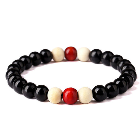 Wooden Beaded Root Chakra Bracelet