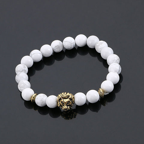 Gold Buddha Leo Lion Head Bracelet