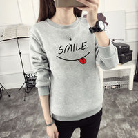 Smiley Printed Women's Sweatshirt