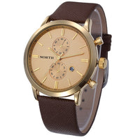 Casual Leather Sports Wristwatch