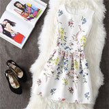 Summer Floral Print Dress Sleeveless Dresses