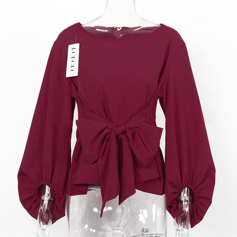 Bow Belt Casual Top
