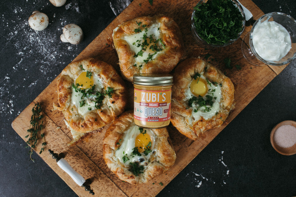 Baked Egg Galettes featuring ZUBI'S Queso