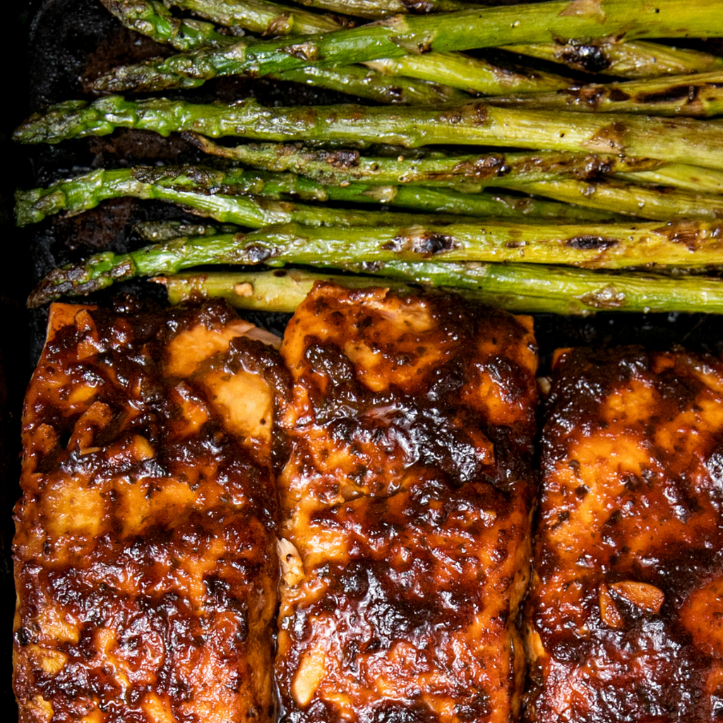 Salsa & Bourbon Glazed Salmon