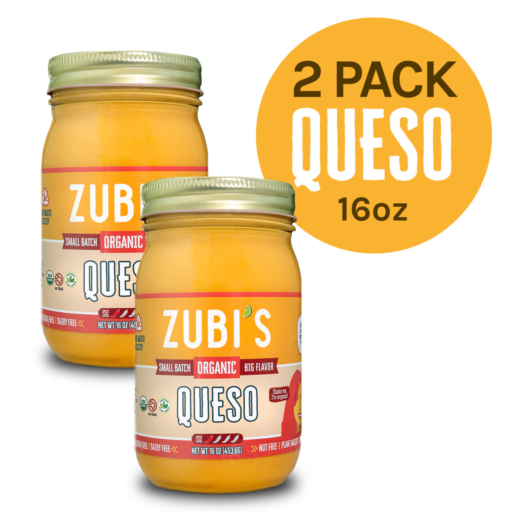 2 Pack ZUBI'S Dairy Free Queso (16 oz jars)