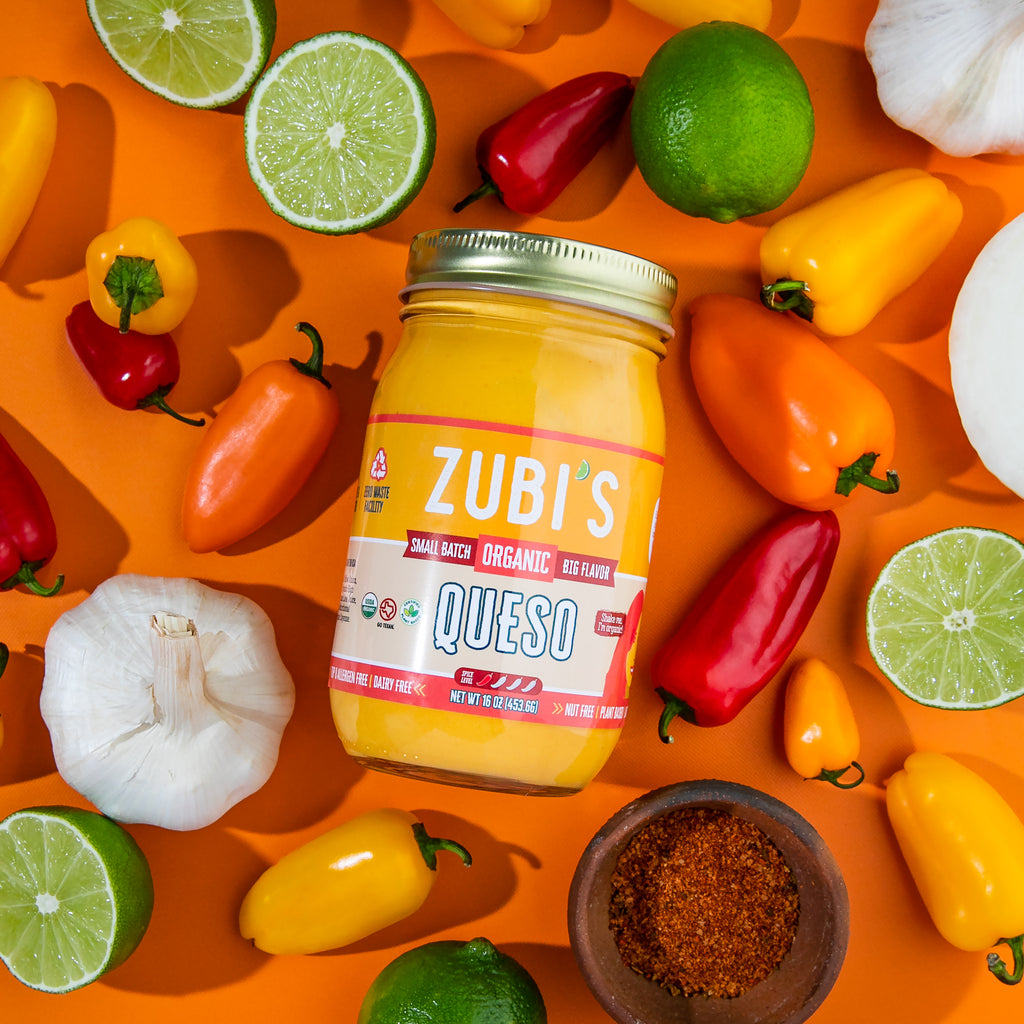 ZUBI'S Sample Pack: Salsa, Crema de Jalapeno, and Queso (16oz)