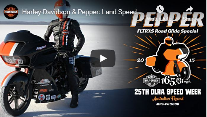 Harley-Davidson & Pepper: Land Speed Record on a Bagger