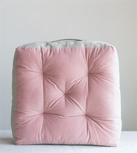 Pink Velvet Floor Cushion