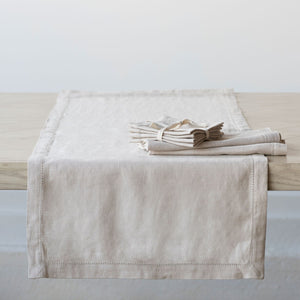 "Heirloom Linen Flax 96"" Runner"