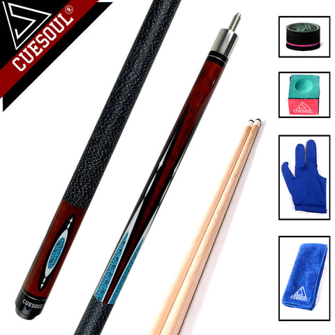 CUESOUL 11.5mm/12.75mm Maple Wood 8-ball Nine-ball 1/2 Split Cue Pool Billiard Cue Stick 58 Inch
