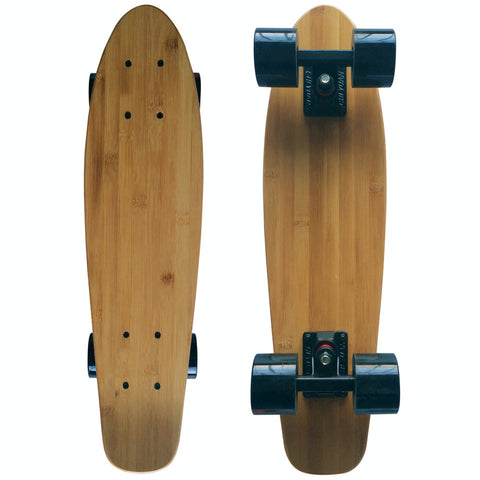 "CHI YUAN 22"" X 6"" Mini Cruiser Maple Bamboo Skateboards Retro Standard Skate Board Longboard"