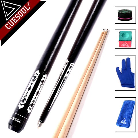 "CUESOUL Billiard Pool Cue Stick With 13mm Cue Tip Snooker Cue 58"" 19.5oz With Free Tool"
