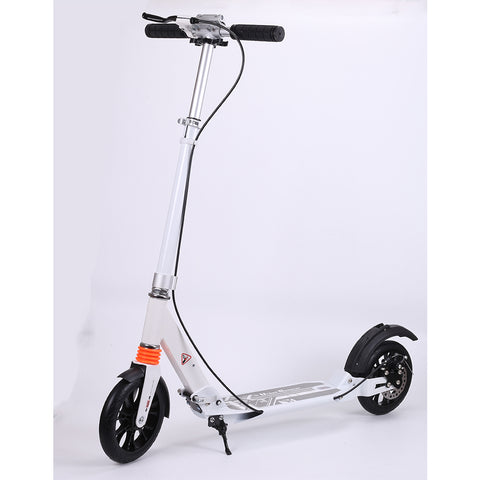 Kick Scooter w/ Disc Handbrake for Adults Teens Folding Scooter 8 Inch Wheels perfect for Urban/City