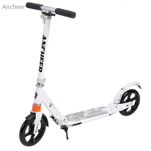 New Ancheer Scooter Sturdy Lightweigh Adult Kick Scooter Adjustable Aluminum Alloy T-Style Foldable