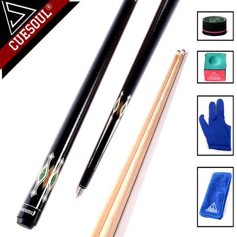 CUESOUL 13mm Maple Wood 8-ball 1/2 Split Cue Stick Center Joint With Free T