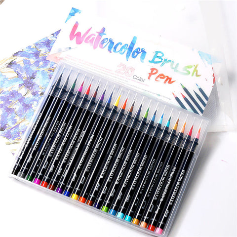 20 Colors Watercolor Painting Soft Brush Marker Pen Set For Cartoon Comic Calligraphy