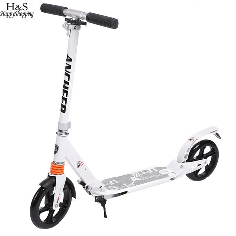 Kids Kick Scooter Wheels Adjustable Aluminum Alloy T-Style Design Sturdy Lightweight Foldable