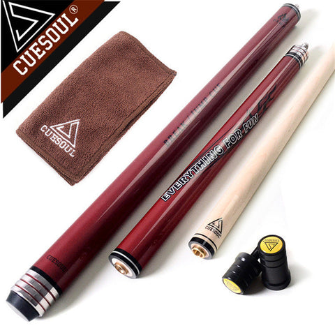 CUESOUL Maple Pool Cues Punch & Jump Cue Pool Billiards Cue Stick 58 Inch 20oz With Good Q