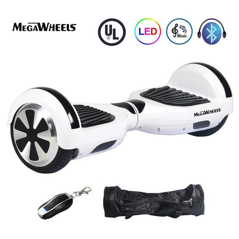 "Hoverboard Megawheels 6.5"" Self Balancing Electric 2 Wheels Overboard Rideable Skateboard LED Lights Free Shipping"