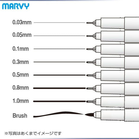 8 pcs/Lot Marvy art gel pens for drawing brush sketch liner cartoon Anime tools  6861