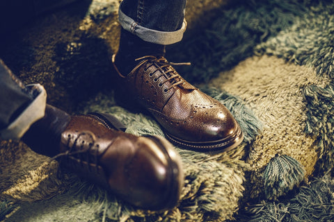 GEORGE Leather Derby Brogue