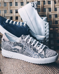Snake Print Trainers