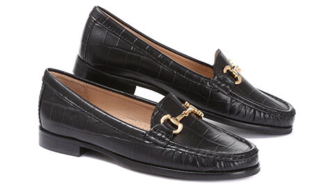 Croc Leather Loafers