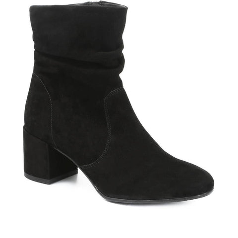Suede Slouch Ankle Boot