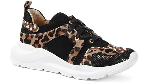 Ladies Leopard Print Trainers