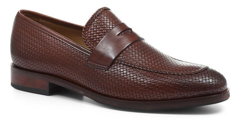 Tan Leather Penny Loafer