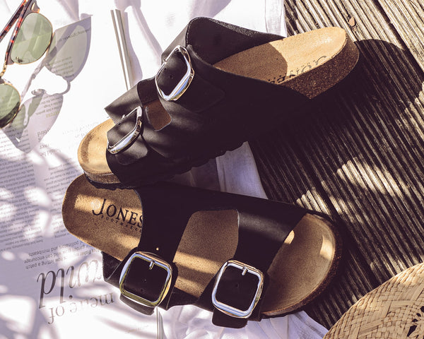 Double Buckle Mules