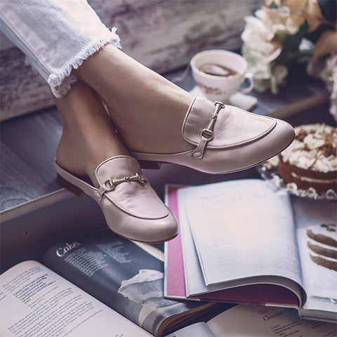 Pink Mule Loafers