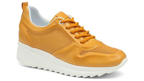 Mustard Leather Trainer