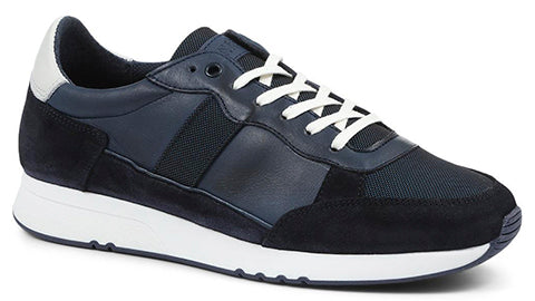 Men's Navy Leather Trainer