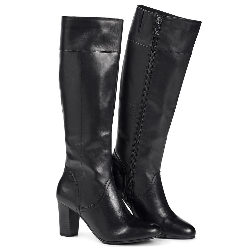 Heeled Leather Knee High Boot - CAPRI28501 / 312 691