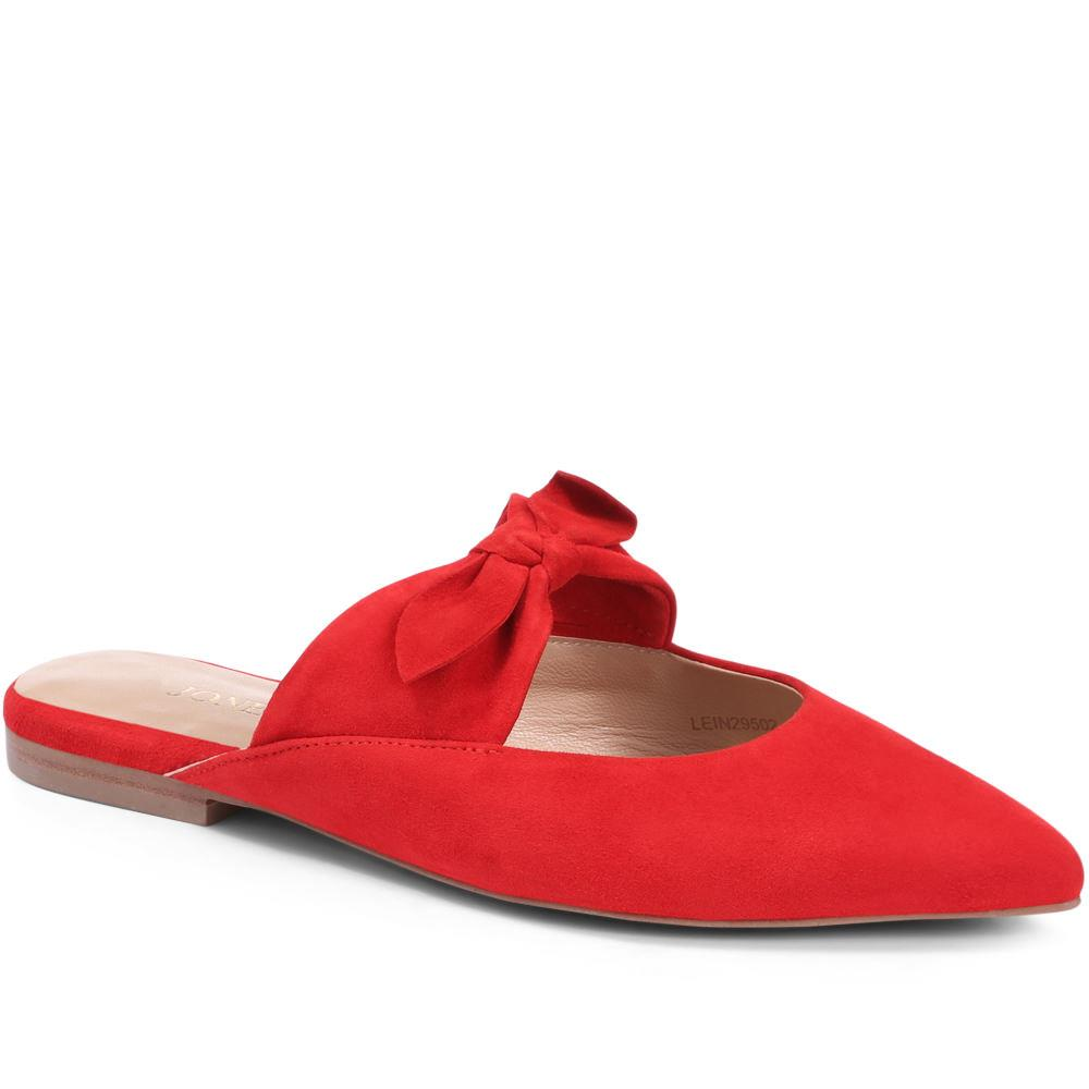 Pointed Flat Leather Mules - LEIN29502 / 315 328