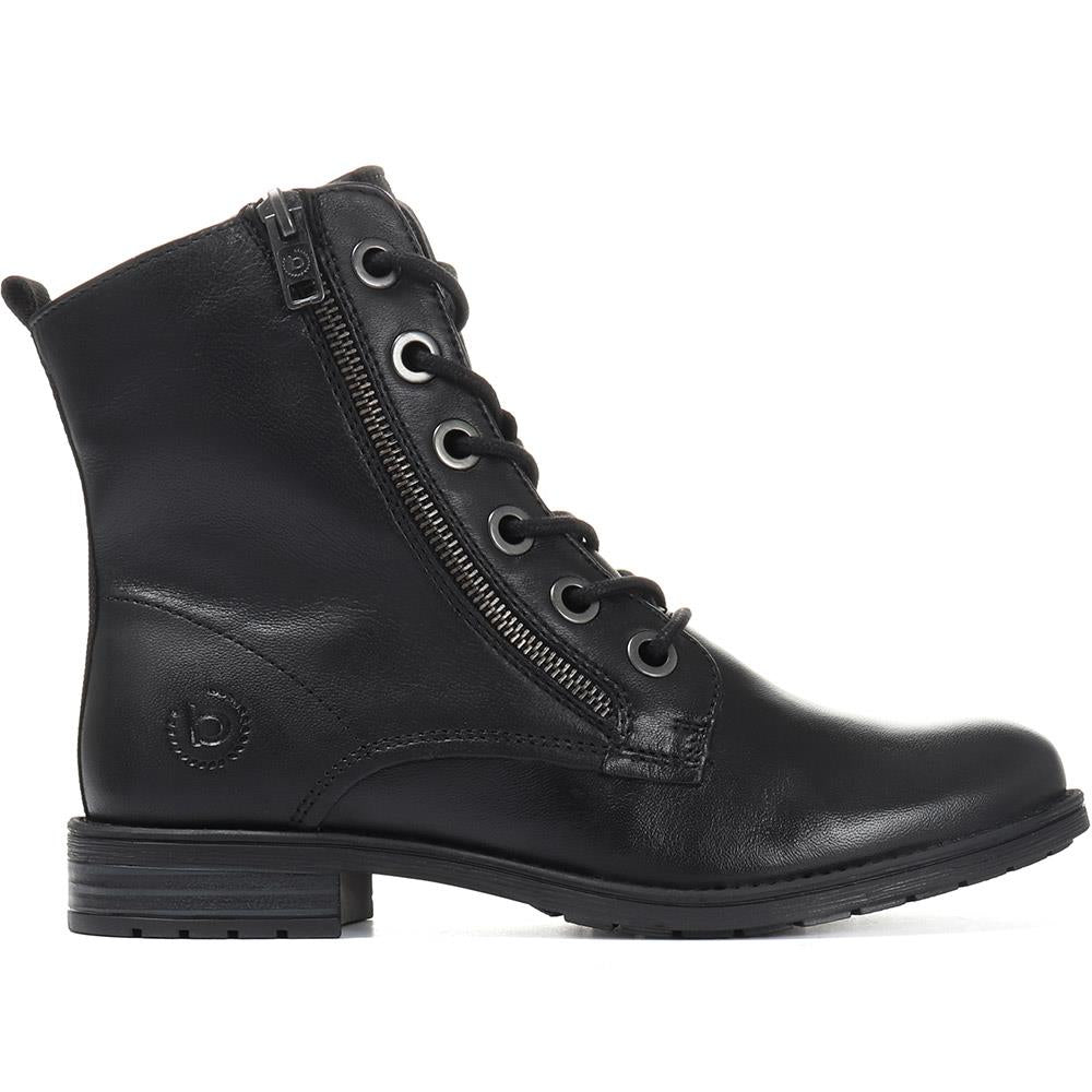Leather Lace-Up Ankle Boot - BUG30518 / 316 164