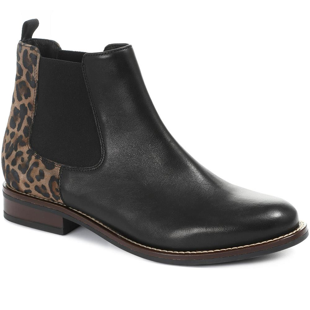 Leopard Print Leather Chelsea Boot - CARM30500 / 316 591