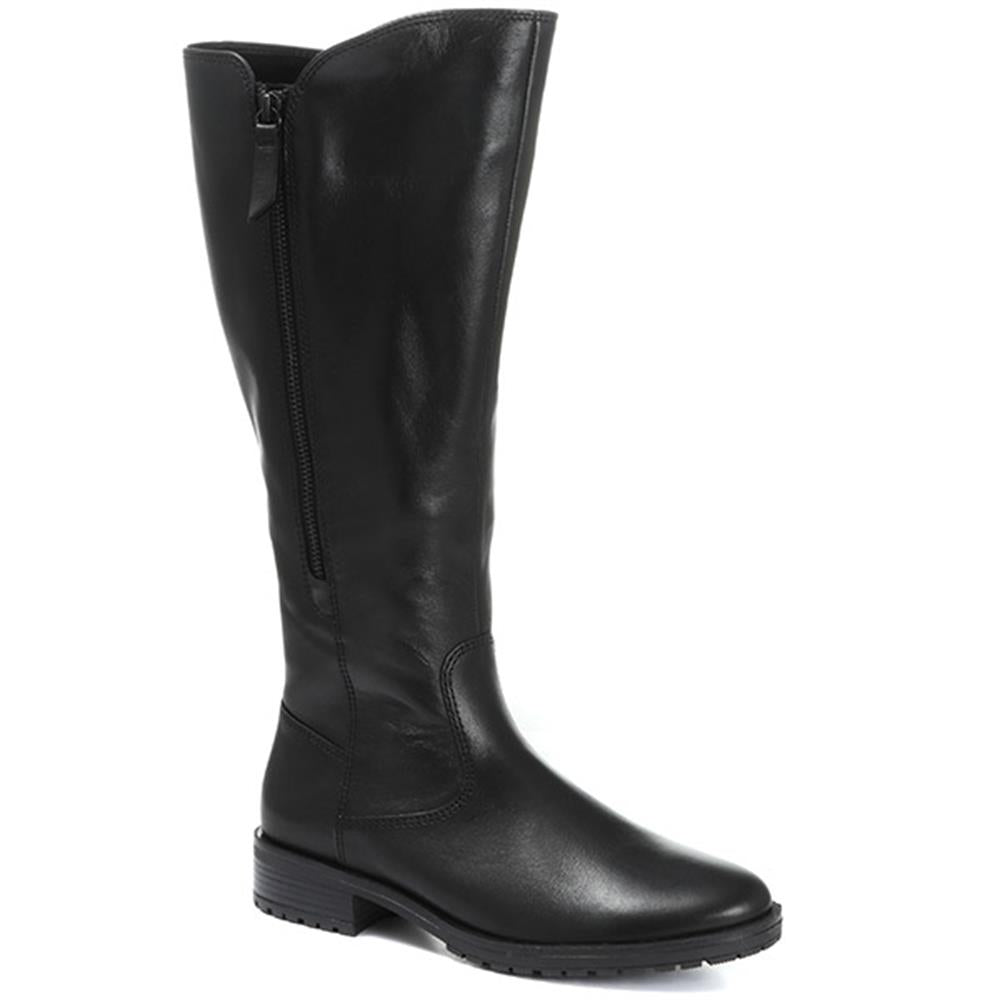 Texas Long Leather Wide Fit Boots