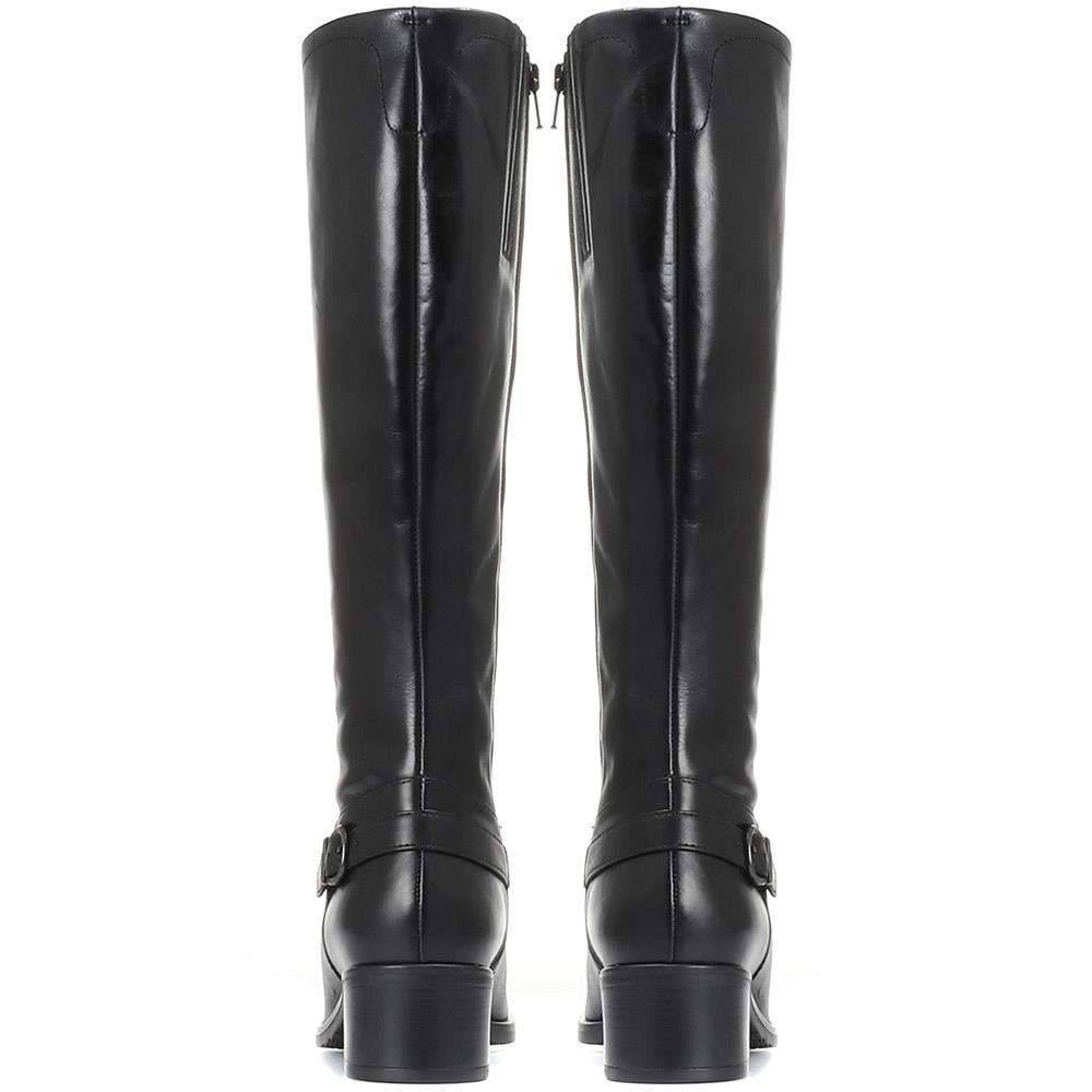 Leather Knee High Boot - CARM30516 / 316 577