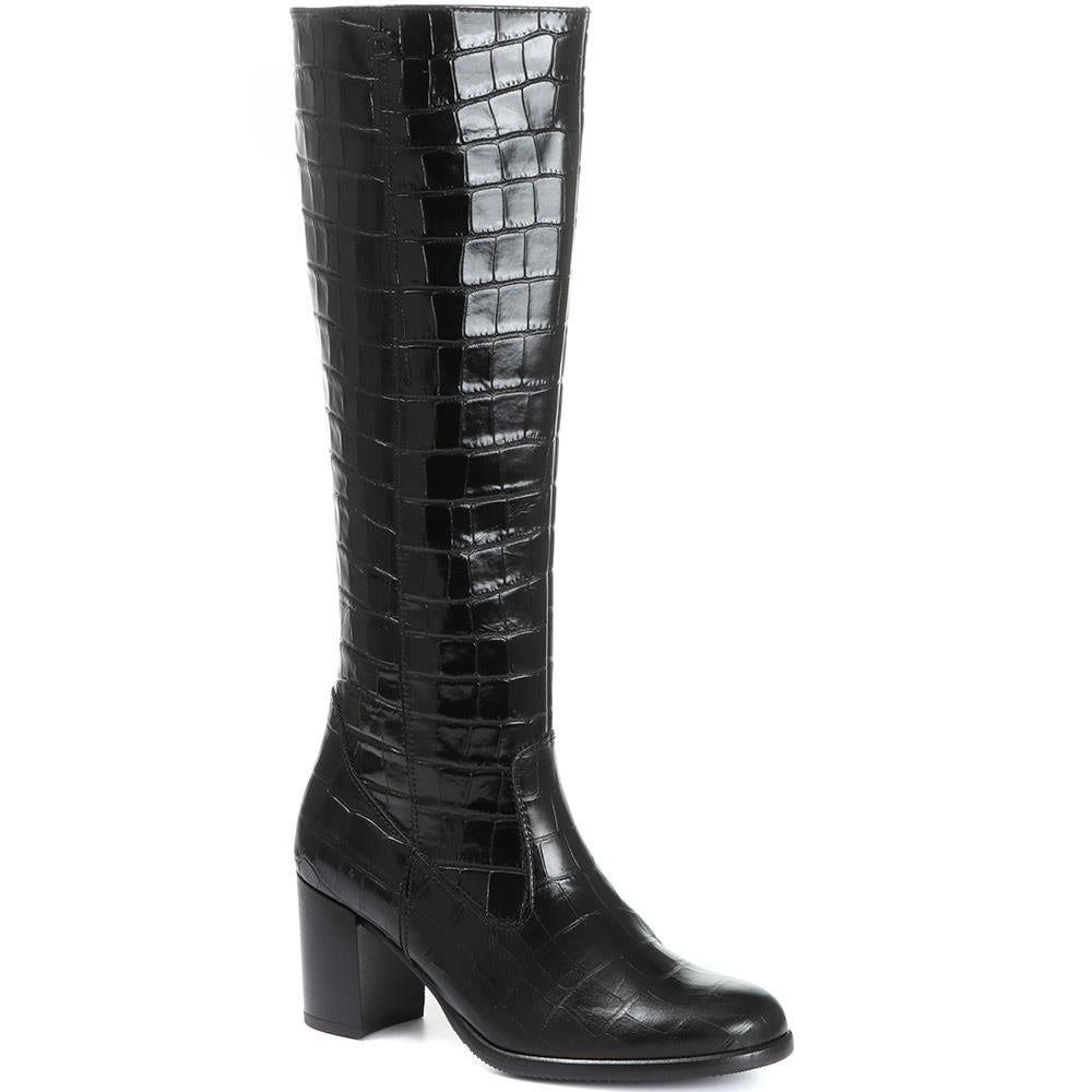 Lettie Polished Leather Knee Boot - GAB30574 / 316 652