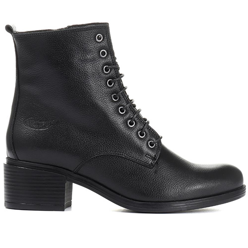 Lace-Up Leather Ankle Boot - VENUS30500 / 317 364